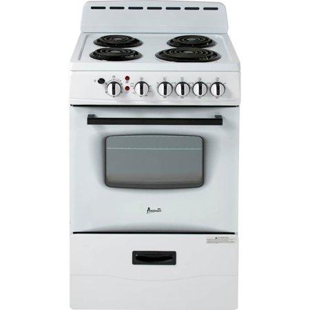 Avanti ERU240P0W 24 Inch Electric Freestanding Range - White