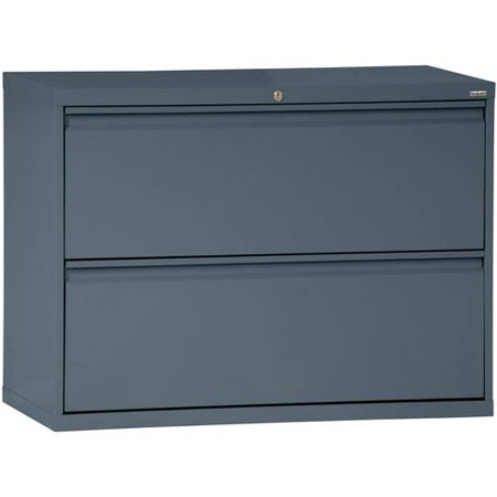 Sandusky Lee 800 Series 36″ 2-Drawer Full Pull Lateral File, Charcoal