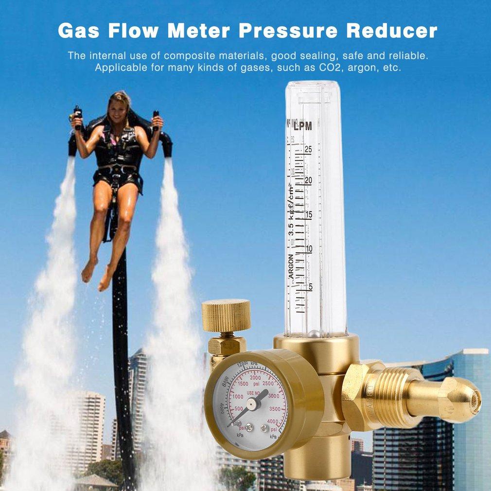 Argon CO2 Mig Tig Flow Meter Regulator Full Copper Carbon Dioxide Welding Weld Pressure Reducer Gauge