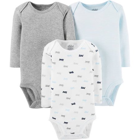66d76d52dd Child of Mine by Carter s - Child Of Mine By Carter s Newborn Baby Boy Long  Sleeve Bodysuits