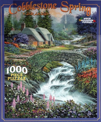 Cobblestone Spring by D. R. Laird 1000 Piece Puzzle - image 1 of 1