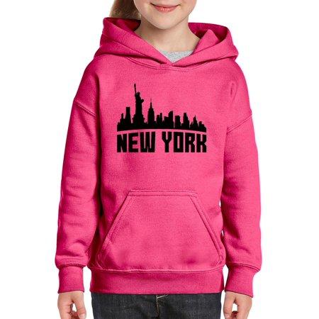 New York City Unisex Hoodie For Girls and Boys Youth Sweatshirt ()