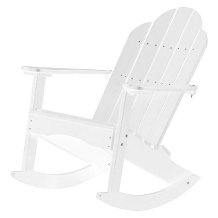 WILDRIDGE Classic Plastic Adirondack Rocker Chair