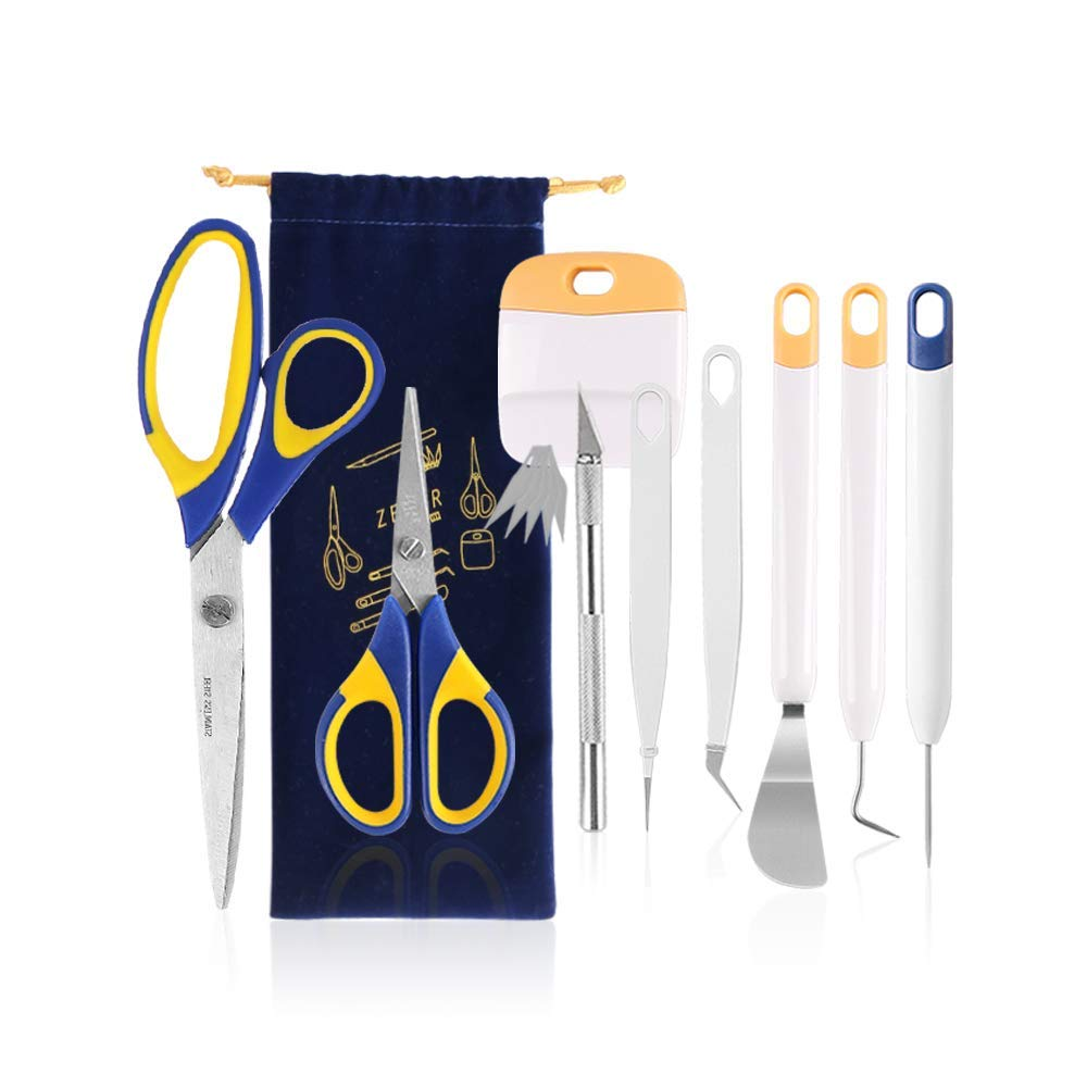 LUTER 17 Pcs Craft Weeding Tool Set Basic Vinyl Weeding Kit for Weeding Scrapbooking Lettering Trimmering Cricuting Silhouettes Cameos