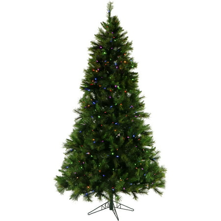 fraser hill farm 10 ft canyon pine artificial christmas tree with multi color