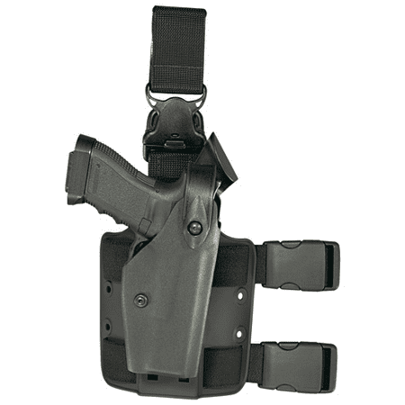 - SAFARILAND 6005 Tactical Gera System Holster With Leg Release Finish: STX Tactical Gun Fit: Glock 17 with M3 LED (4.5  b