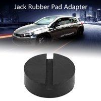 LYUMO Car Universal Slotted Frame Rail Floor Jack Pads Jacking Rubber Pad Adapter Black, Jack Pad Adapter, Jacking Pad