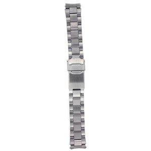 Seiko Original Stainless Steel Watch Band 18mm with Curved Ends