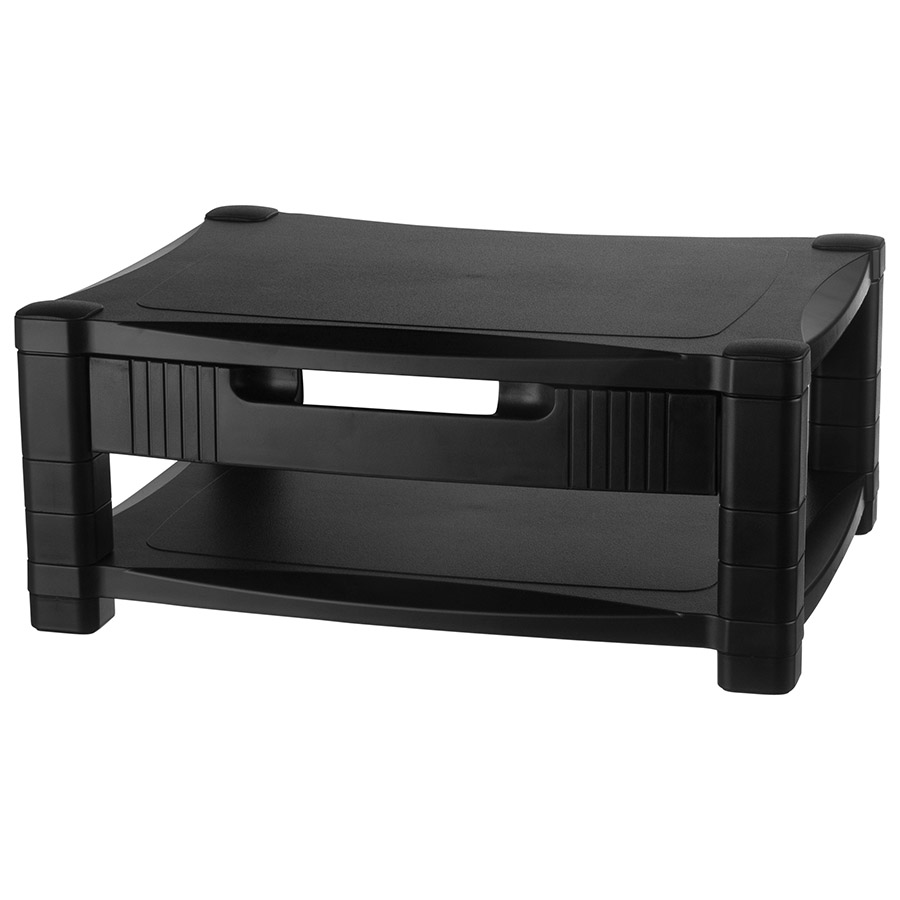 Kantek Adjustable Two-Tier Monitor Stand with Drawer