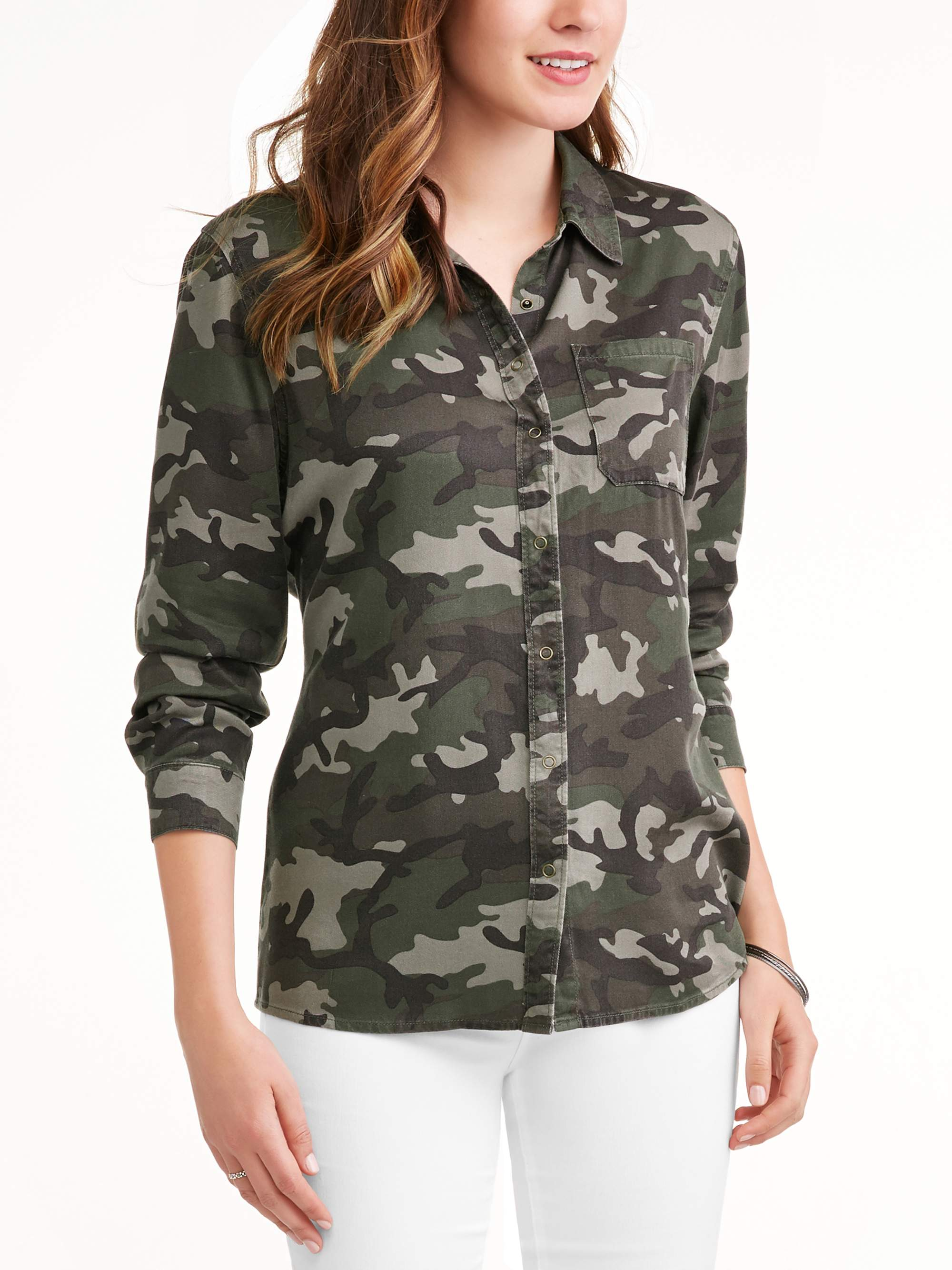 Women's Boyfriend Woven Shirt by Topson Downs Of California Inc