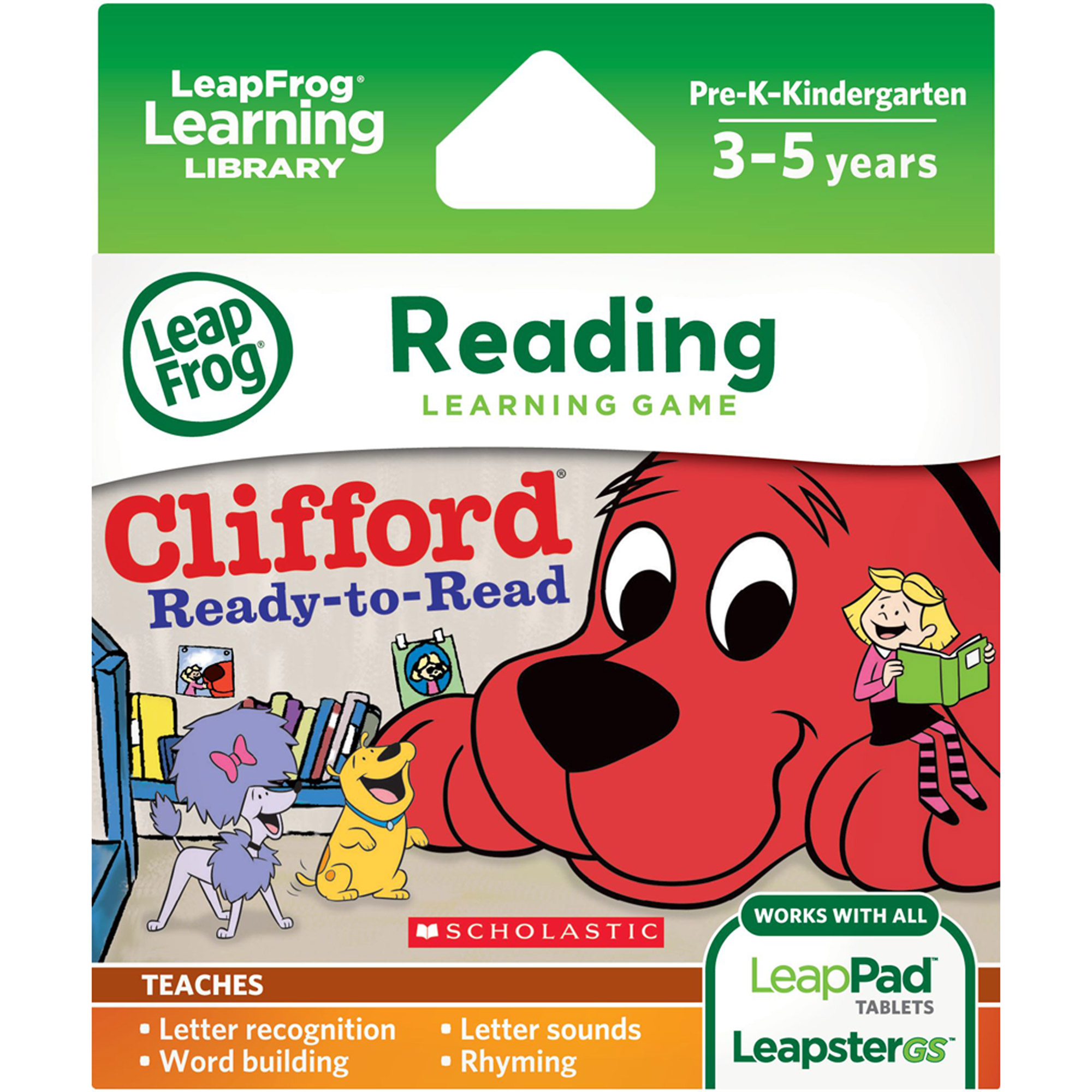 LeapFrog Learning Game: Scholastic Clifford (for LeapPad Tablets and LeapsterGS)
