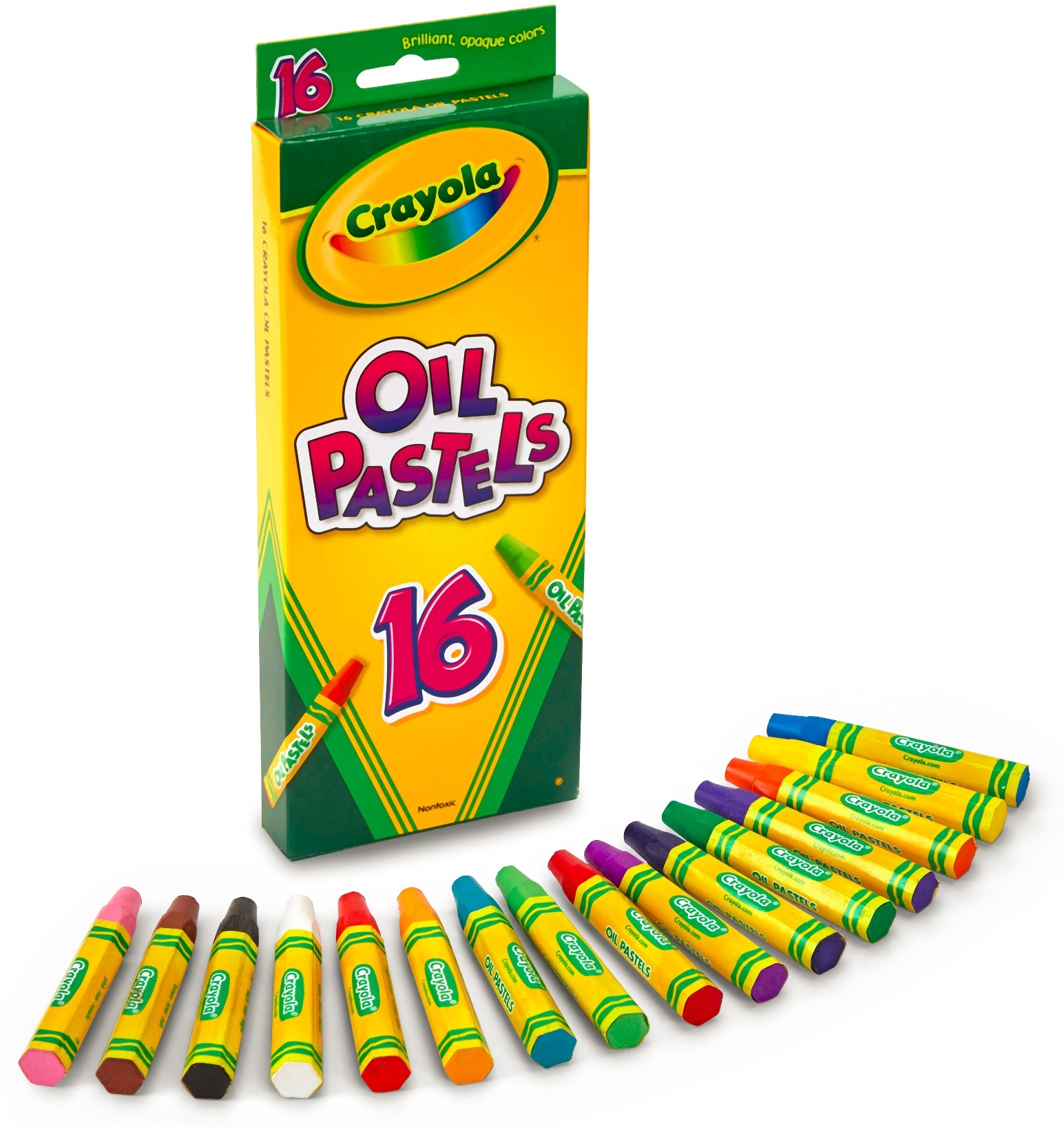 """Crayola 16 count Colored Oil Pastel Sticks, 2-15 16""""x1 2"""" by Crayola"""