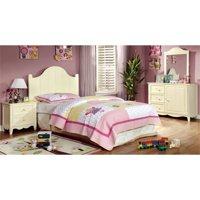 Furniture of America Adalyn 4-Piece Kids Bedroom Set in Cream