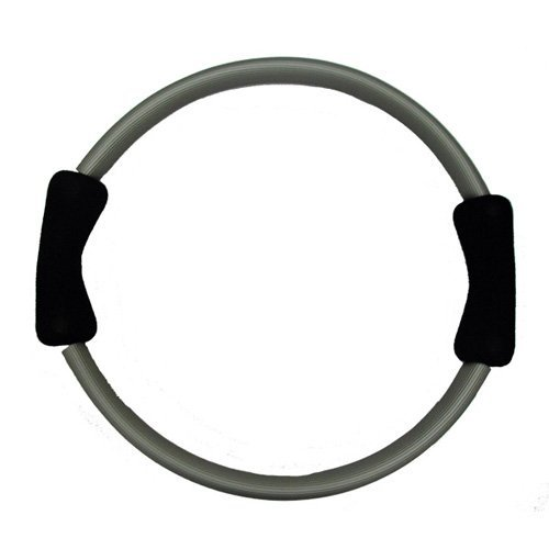 Yoga Direct Pilates Toning Ring With Black Cushioned Grips - Gray