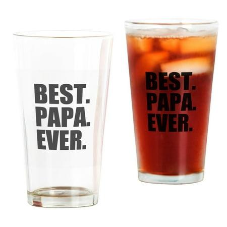 CafePress - Best Papa Ever - Pint Glass, Drinking Glass, 16 oz.