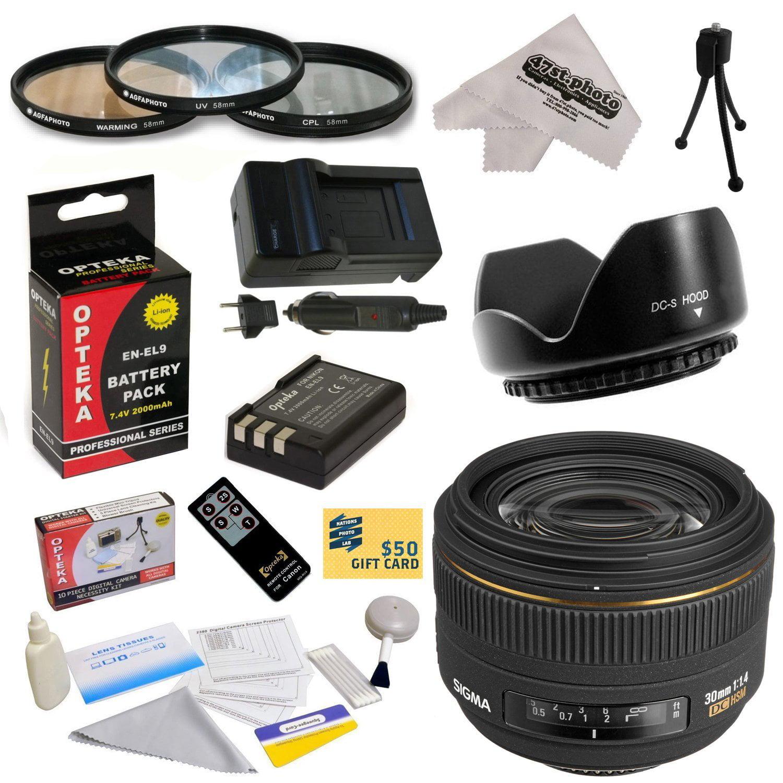 Sigma 30mm f/1.4 EX DC HSM Autofocus Lens for Nikon with ...