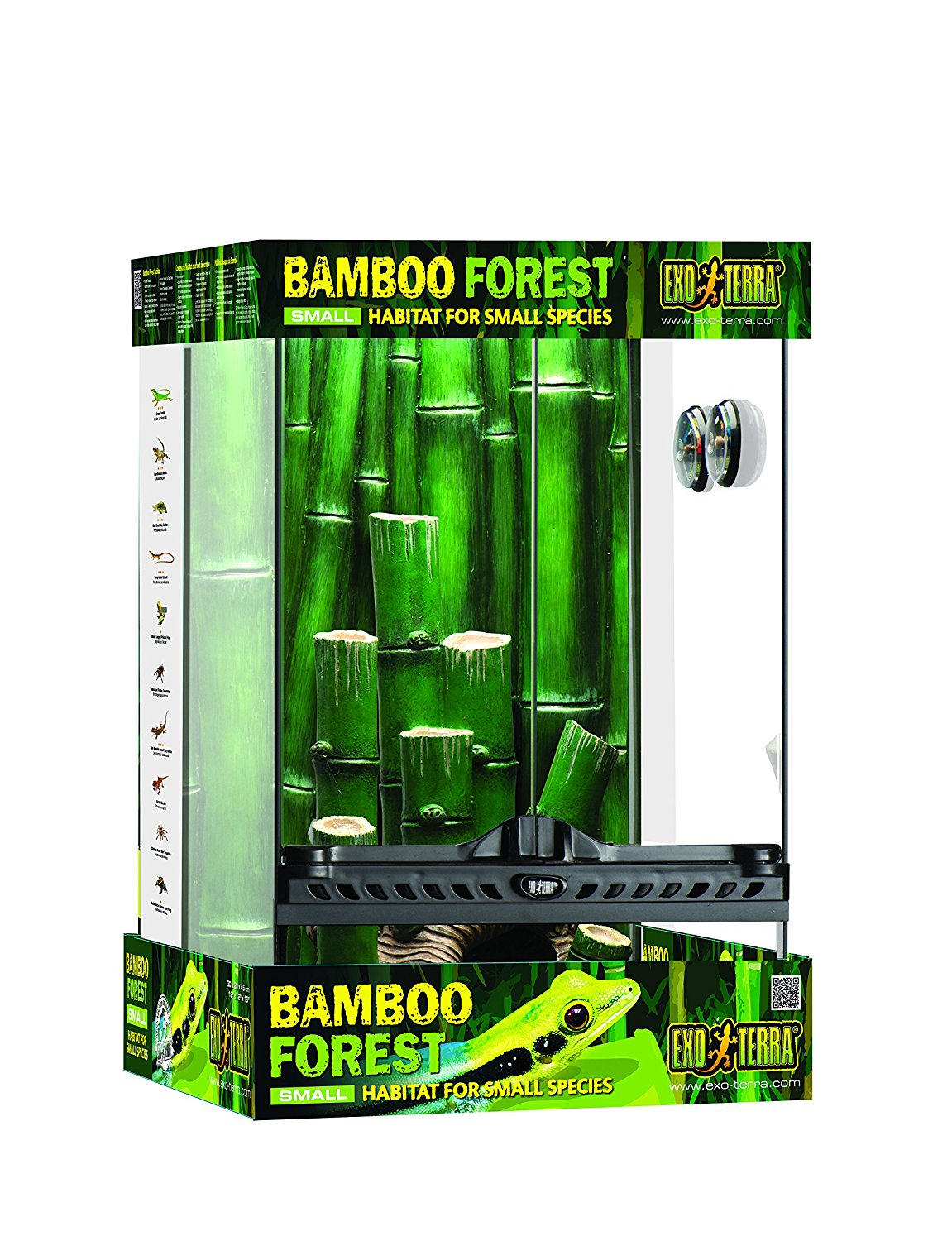 Exo Terra Small 11-Gallon Bamboo Forest Reptile Habitat by Hagen