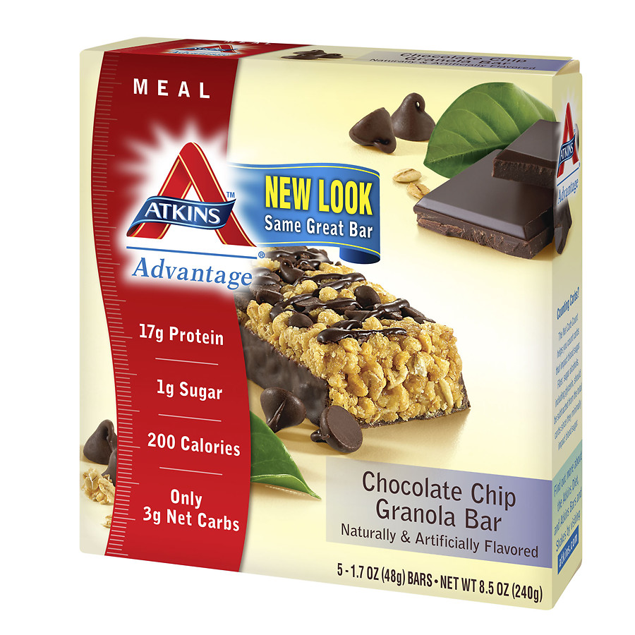 Atkins Advantage Meal Bars Chocolate Chip Granola1.7 oz. x 5 pack(Pack of 1)