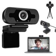 1080P Full HD Webcam with Microphone USB Desktop & Laptop Webcam Live Streaming Webcam with Microphone Widescreen HD Video Webcam for Video Calling USB 2.0