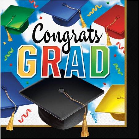 Creative Converting Graduation Celebration Napkins, 100 ct - Graduation Celebration