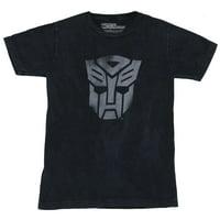 Transformers Mens T-Shirt -  Heavily Distressed Single Gray Toned Autobot Logo