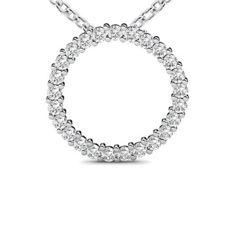 1.00 Ct Ladies Round Cut Diamond Circle of Love Pendant / Necklace