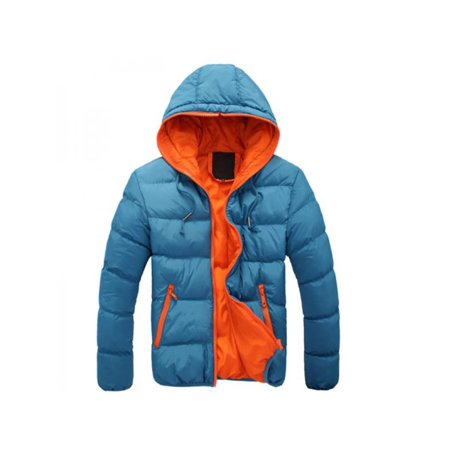dbaceb426 Sweetsmile - Men's Jacket Coat,Sweetsmile Winter Casual Warm Thick Slim  Cotton-padded Jacket Hooded Coat Parka Overcoat For Men Clearance -  Walmart.com