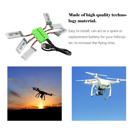 3.7V 520mAh Rechargeable Battery Drone Battery Li-on Battery for Hubsan H107P - image 3 of 6