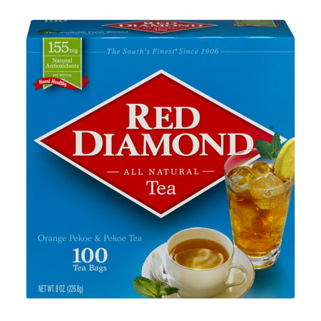 (3 Pack) Red Diamond Tea Bags, 100 count - Tea Bag Costume
