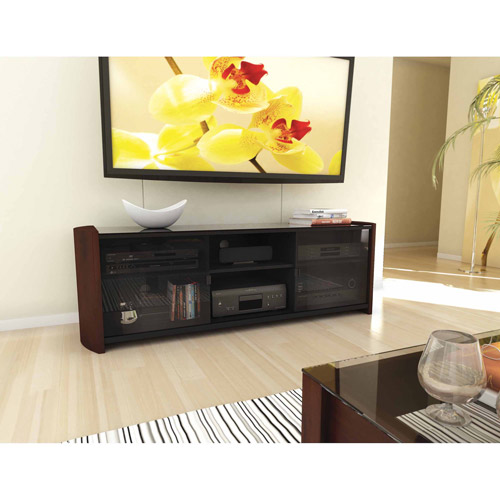 "Milan 60"" TV Bench with Real Wood Veneer"