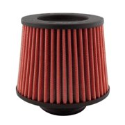 "DC Sports DCF-350 - Round Tapered Red Air Filter (3.5"" F x 6"" B x 5"" T x 6"" H)"