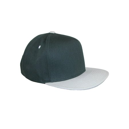 Size one size Men's Cotton Two Tone Flat Brim Baseball Cap ()