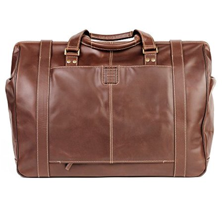 Houndstooth Italian (Boconi Bryant Safari Bag in Antiqued Mahogany w/)