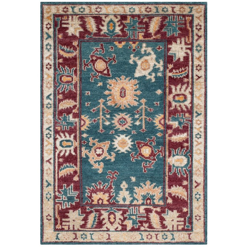 Safavieh Moharaja Hand-Knotted Blue / Red Area Rug