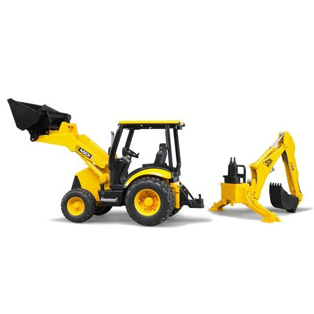 Bruder Toys JCB MIDI Excavator Backhoe Loader Construction Toy Truck, Yellow