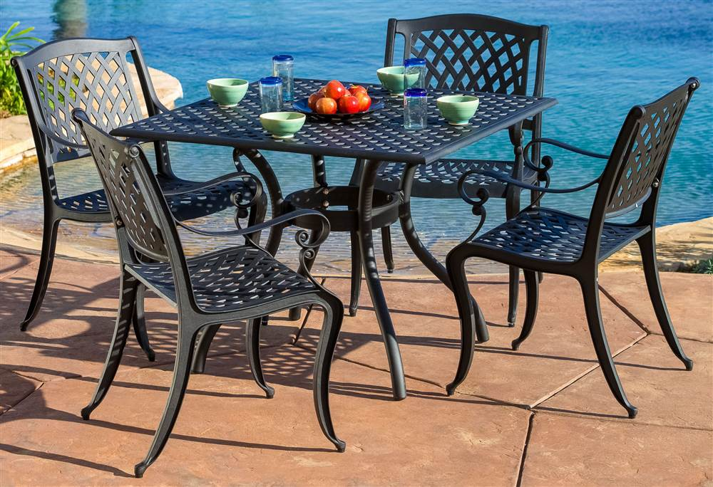 5-Pc Dining Room Set in Black Sand Finish by Best Selling Home Decor Furniture LLC