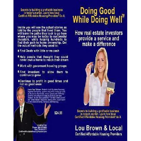 Doing Good While Doing Well  How Real Estate Investors Provide A Service And Make A Difference