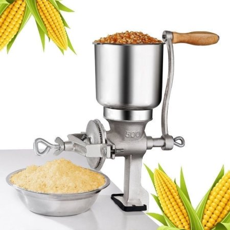Zimtown Manual Hand Grain Grinder Mill for Corn Wheat Grain Grinder Cast Iron Multigrain Soybeans Shelled Nuts Commercial Home Use