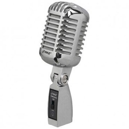 Classic Retro Vintage-Style Dynamic Vocal Microphone - Silver