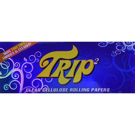 TRIP2 Clear Cellulose Cigarette Rolling Papers - Three (Best Clear Rolling Papers)