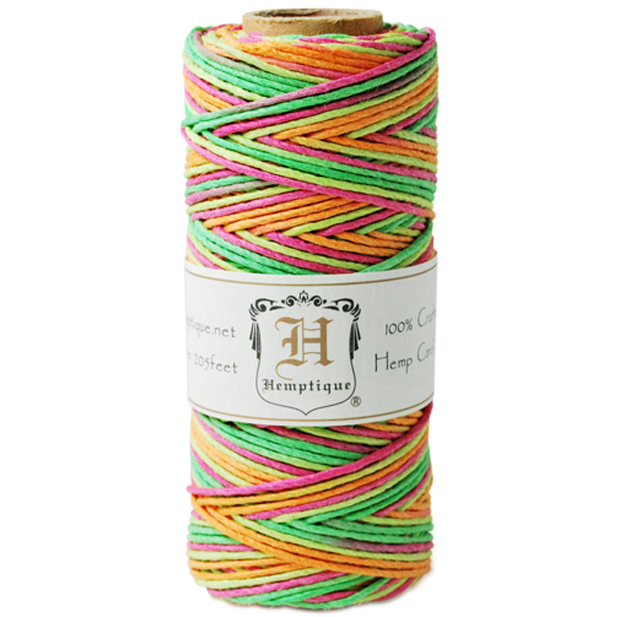 Hemp Variegated Cord Spool 20lb 205'-Neon