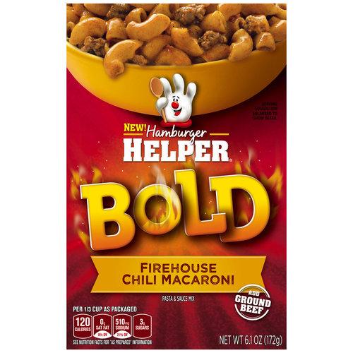 Betty Crocker Bold Firehouse Chili Macaroni Hamburger Helper, 6.1 oz