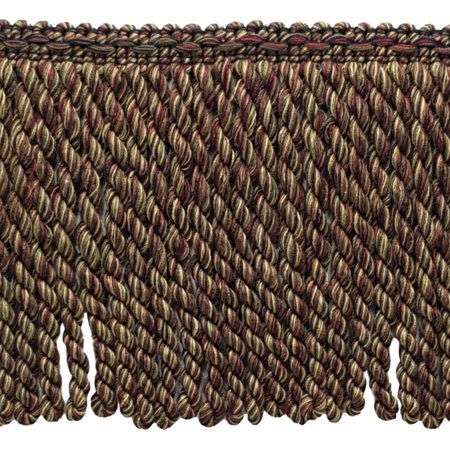 18 Yard Package - 6 Inch Long Claret, Camel Brown, Branch Green, Black, Brown, Mocha Bullion Fringe Trim|Style# BFDK6 (11881)|Color: Tuscany - N40 (54 Ft / 16.5 Meters) (18 Tuscany Appliance)
