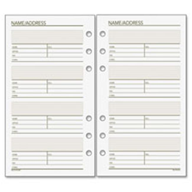 Day Runner DRN013230 Telephone & Address Planner Pages, White - 3. 75 x 6. 75 inch