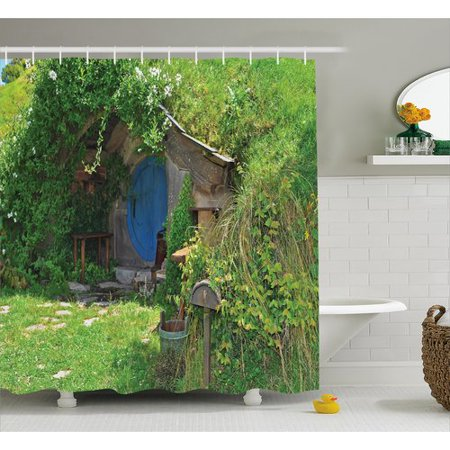 Hobbit House - Ambesonne Hobbits Fantasy Hobbit Land House Shower Curtain