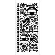 Dazzles Stickers-Honey Bees-Black