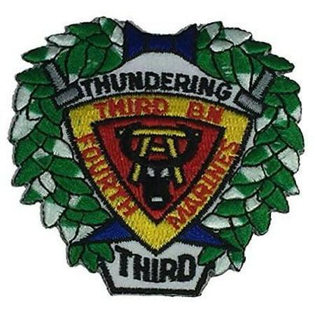USMC THIRD 3RD BATTALION BN FOURTH 4TH MARINE DIVISION MARDIV PATCH THUNDERING ()