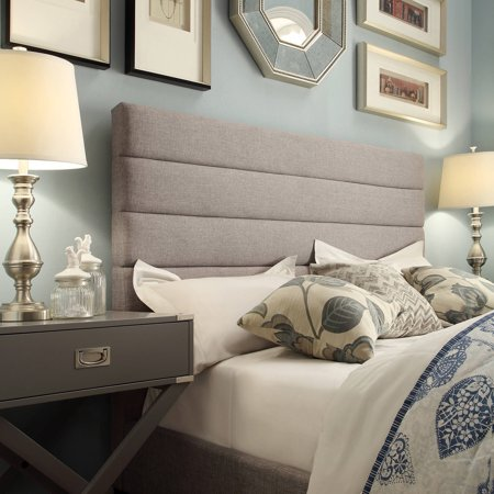 Marion Horizontal Tufted Grey Linen Headboard, Multiple Sizes - Walmart.com