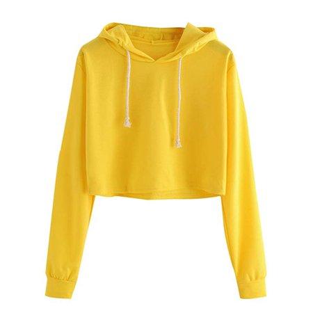 Girls Cropped Hoodie Top (Women's Long Sleeve Letter Print Sweatshirt Crop Top Hoodies )