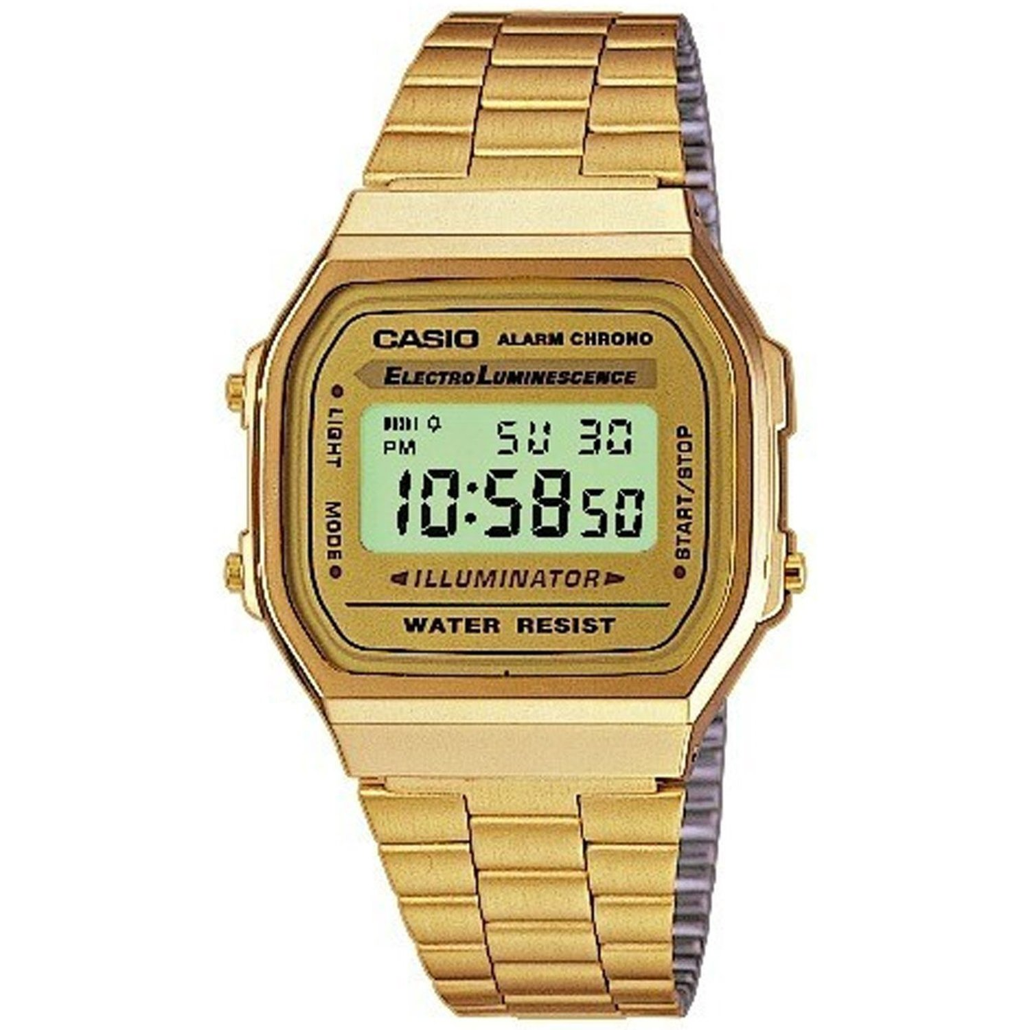 Casio Men's A168WG-9W Digital Stainless-Steel Quartz Fashion Watch
